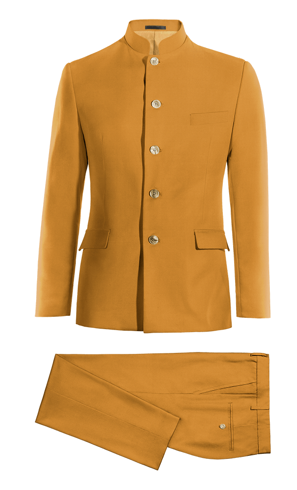 Yellow Mao cotton Suit