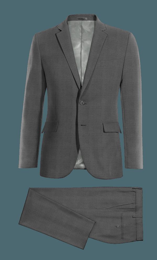 Costume gris 100% laine