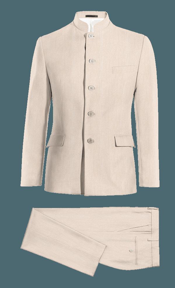Beige Mao wool Suit