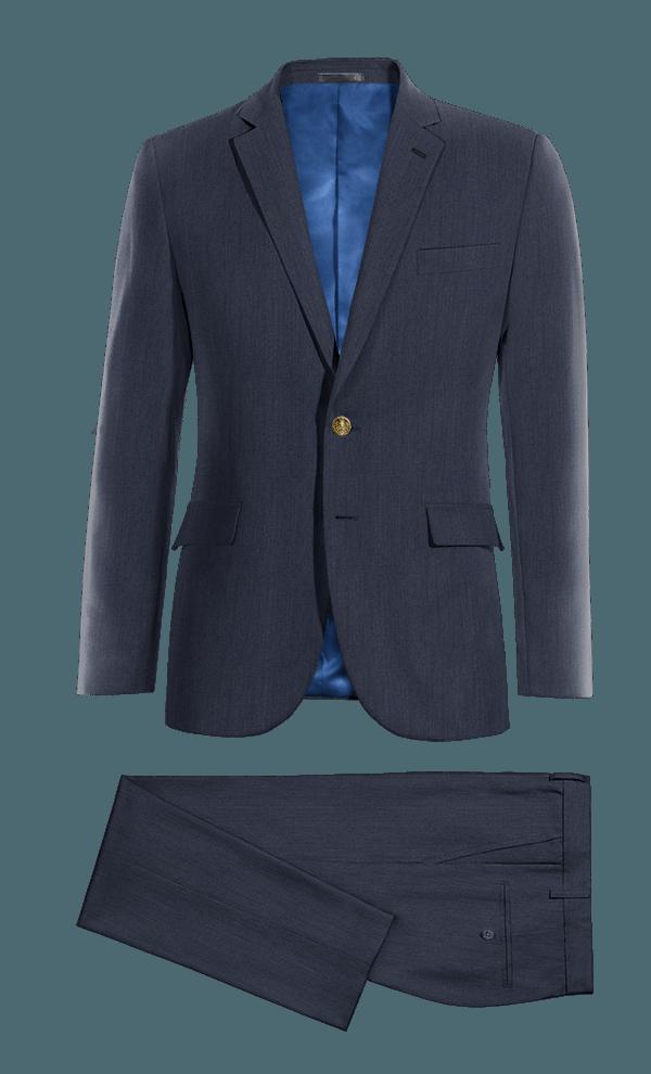 Costume bleu en Lin