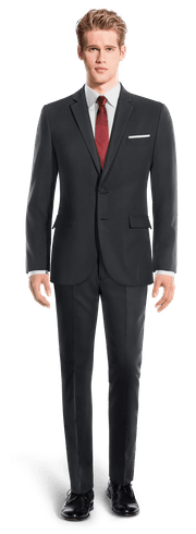 Blue Merino wool Suit-View Front