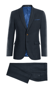Blue striped Merino wool Suit-without_model