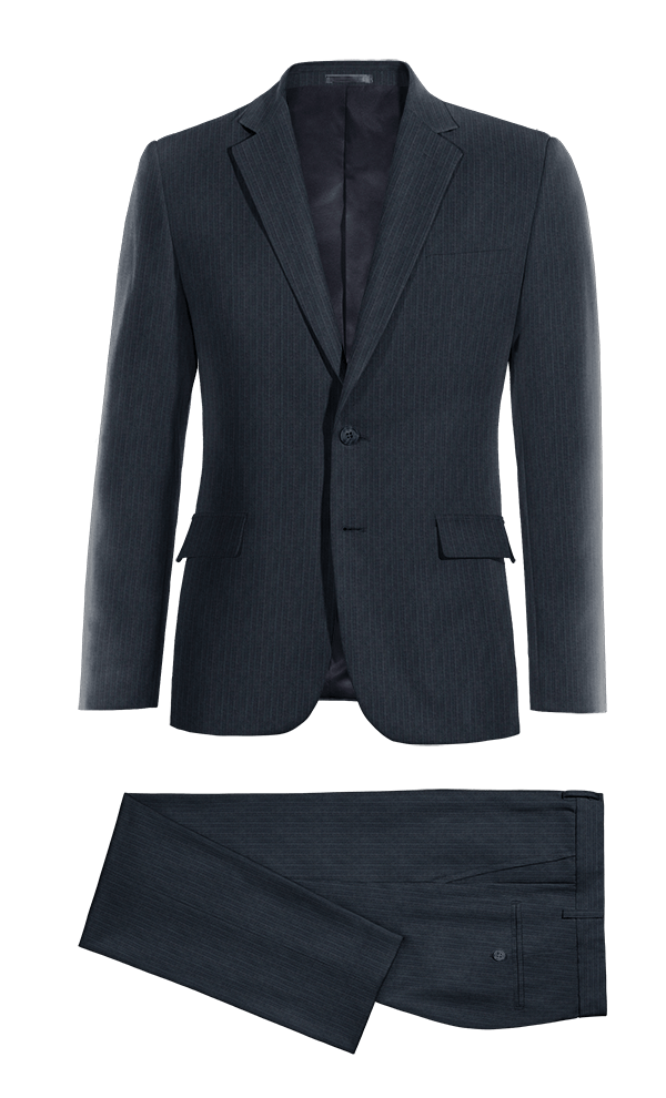 Blue striped Merino wool Suit