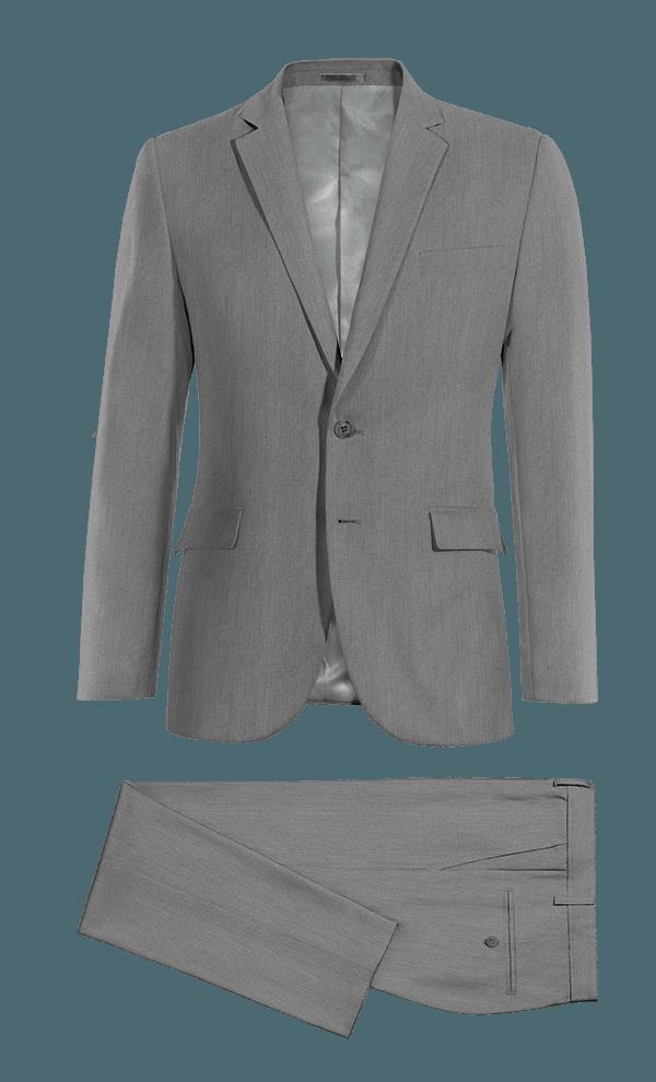 Abito grigio 100% lana