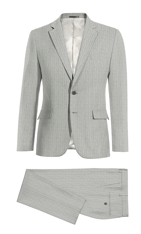 Grey striped linen Suit