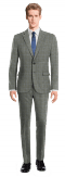 Grey checked wool Suit-View Front