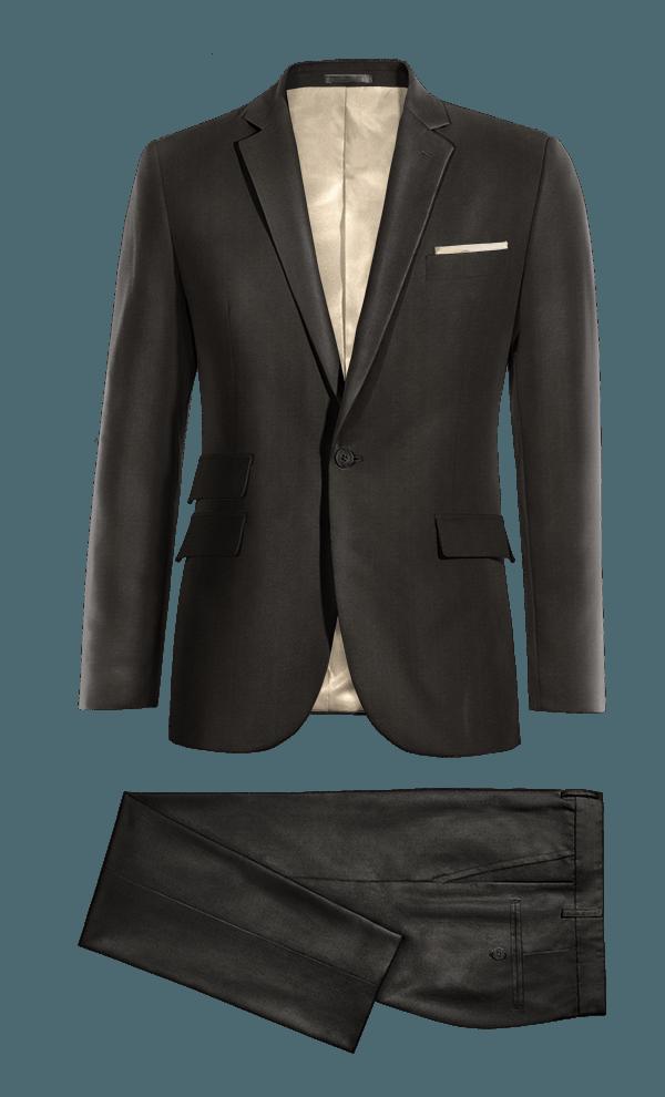 Costume noir en Polyester