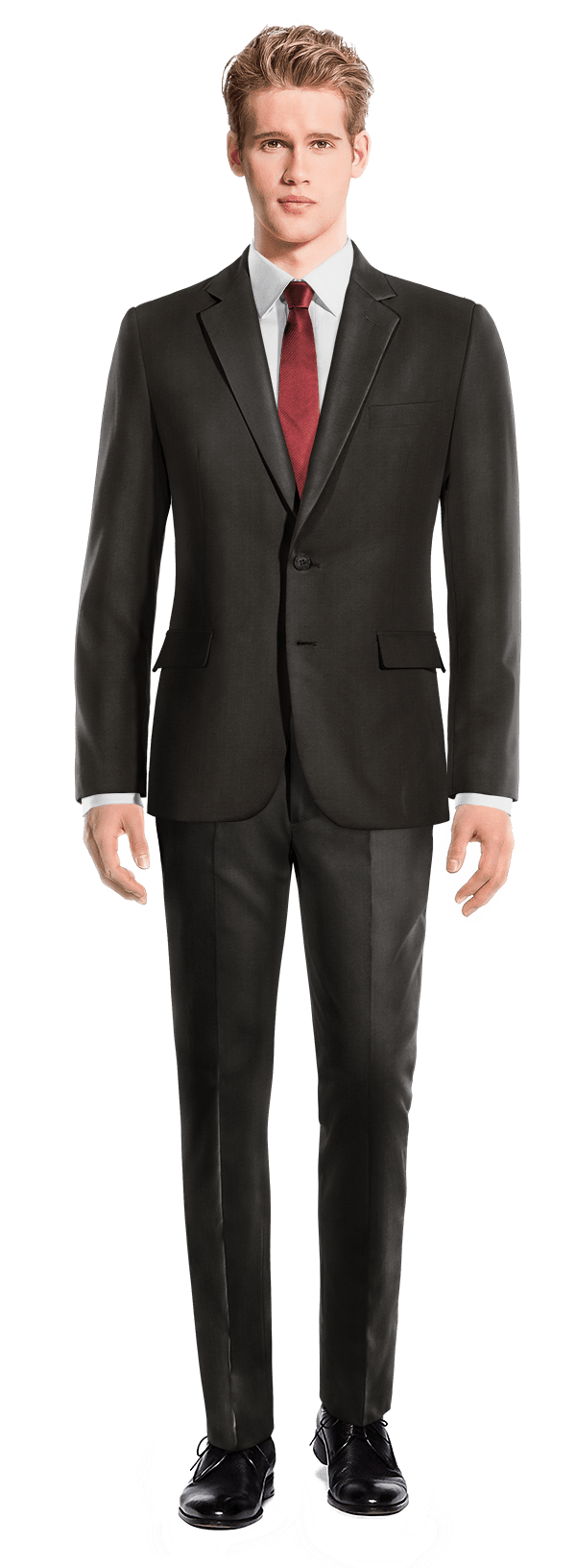 Black polyester Suit