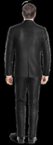 Costume noir en Laine-Vue Dos