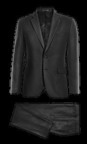 Costume noir en Laine-without_model