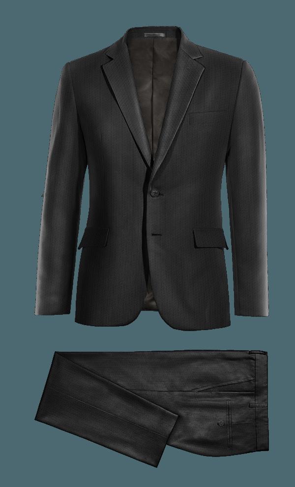 Costume noir en Velours côtelé