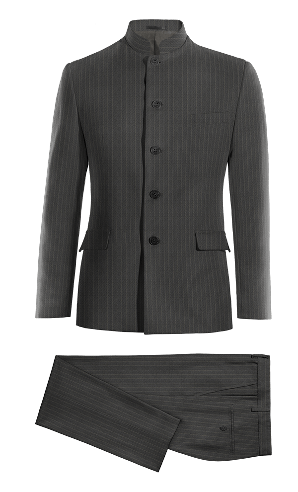 Grey Mao striped wool Suit