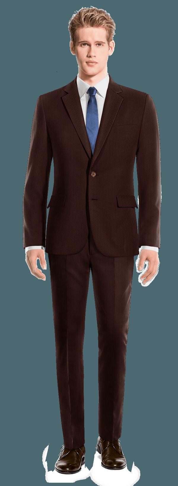 Costume marron en Velours côtelé