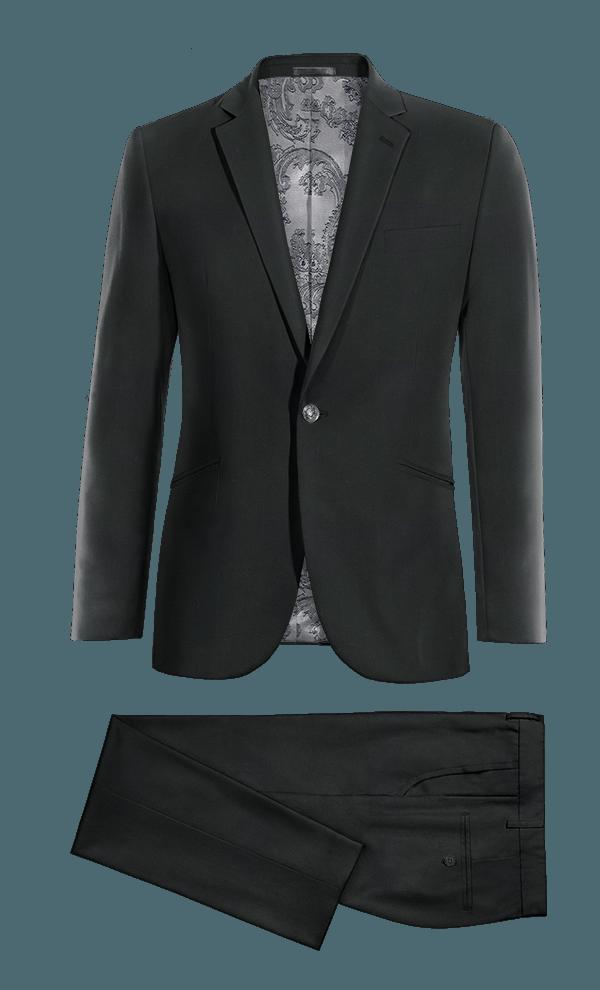 Costume noir en Laine