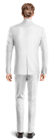 White linen Suit-View Back