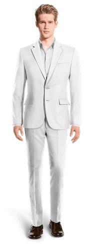 White linen Suit-View Front