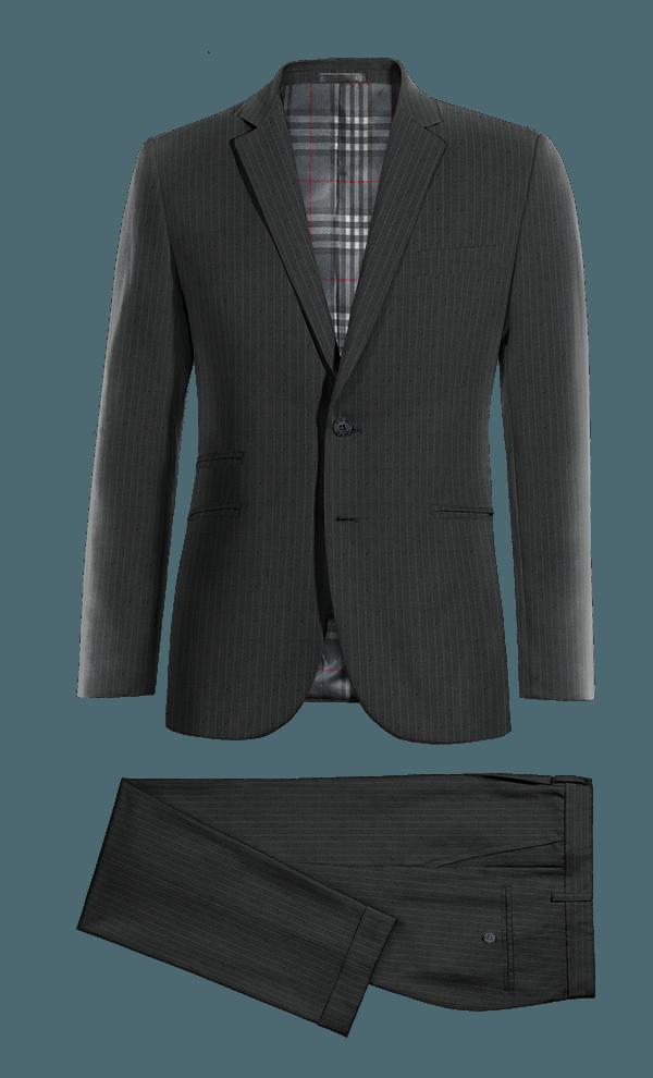 Blue striped wool Suit