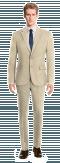 Beige linen Suit-View Front