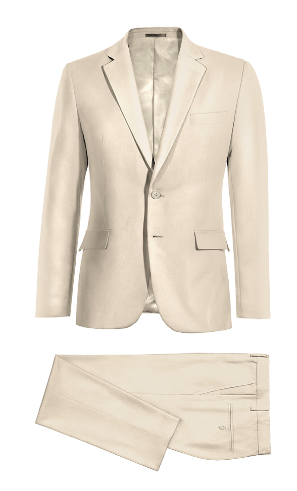 Beige polyester Suit