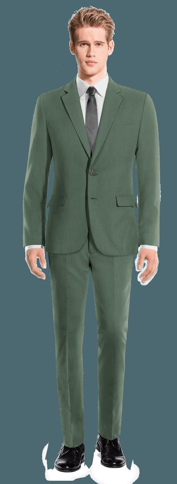 зеленый шерстяной Костюм