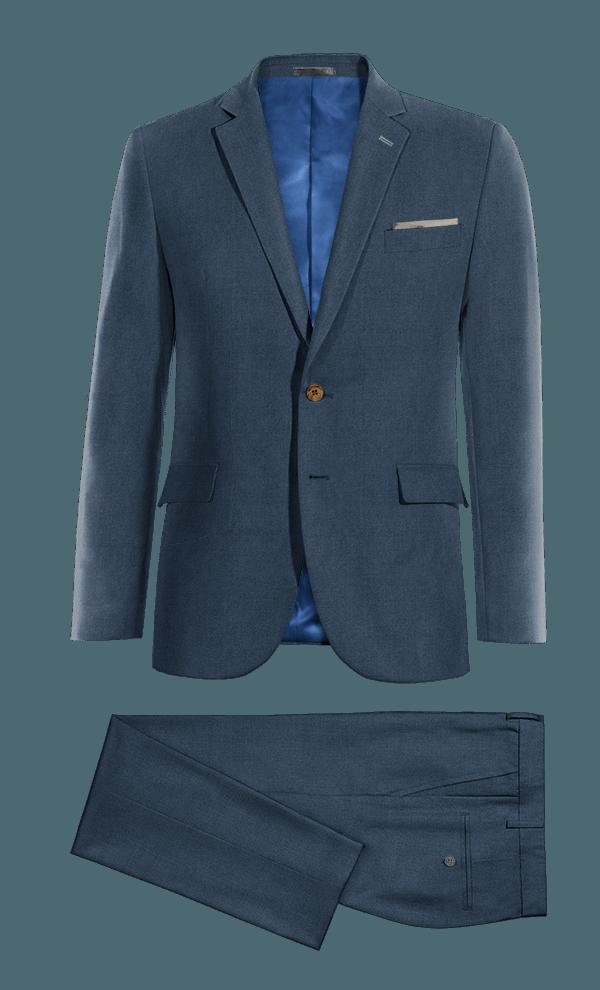 Abito blu 100% lana
