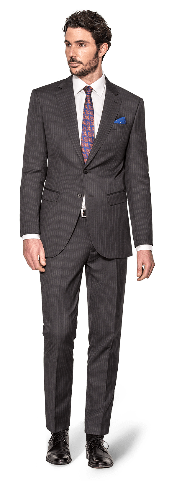Grey striped wool Suit