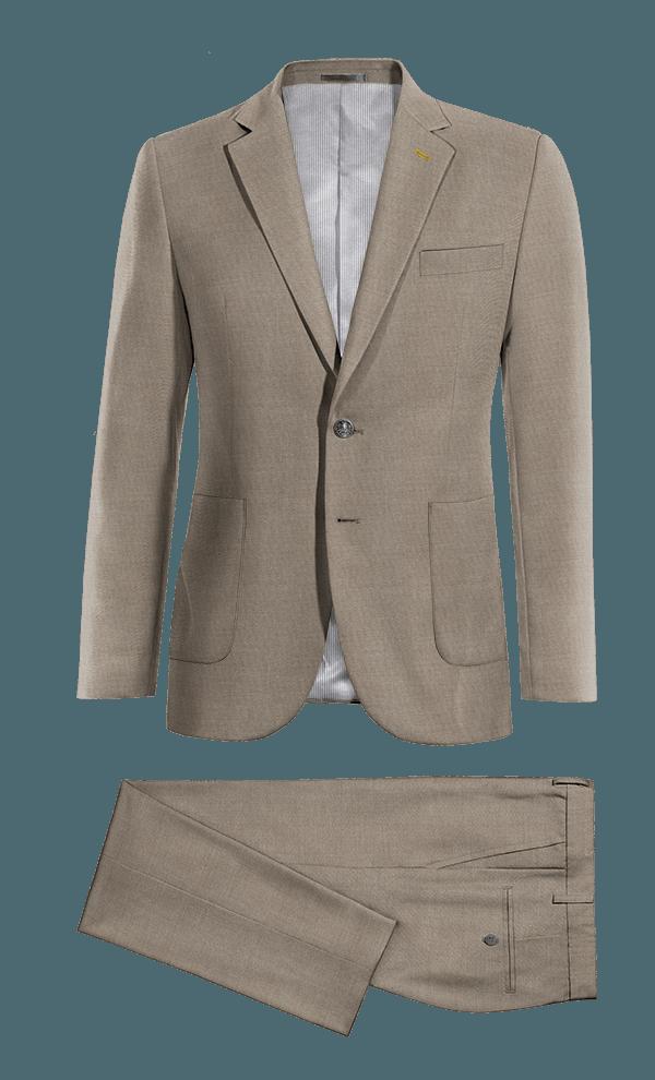 Costume gris en Soie