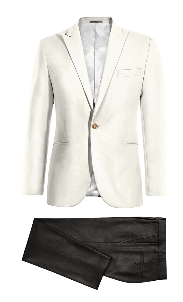 White polyester Suit
