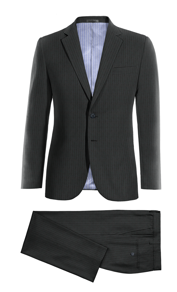 Blue striped wool Suit