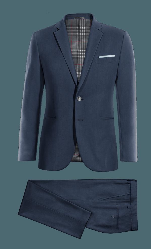 Costume bleu 100% laine