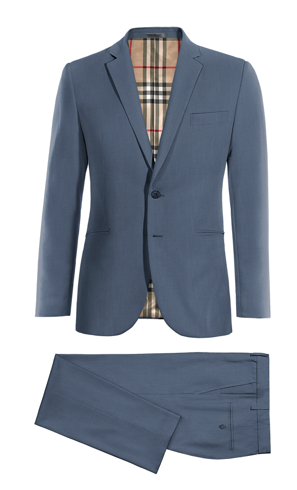 Blue wool Suit