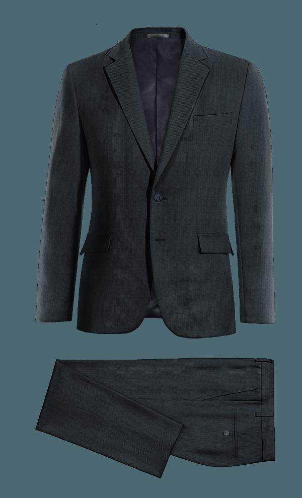 Blue striped corduroy Suit