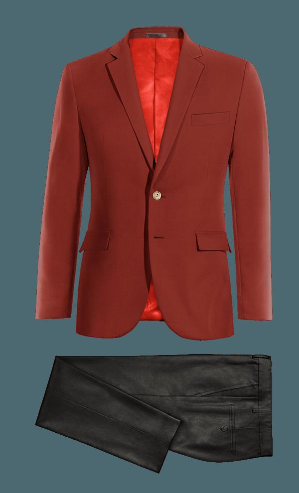 Costume rouge en Coton