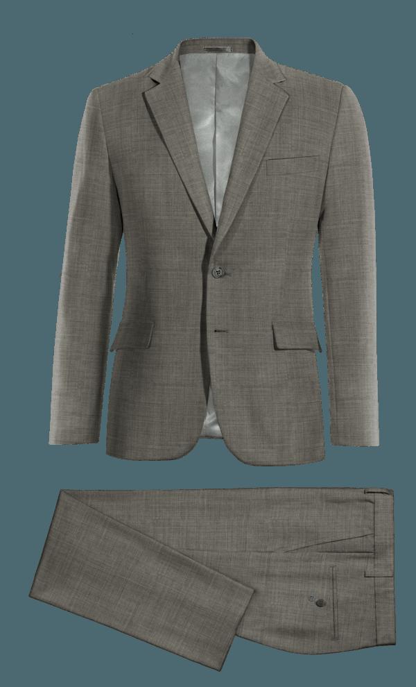 Grey 100% Wool Suit