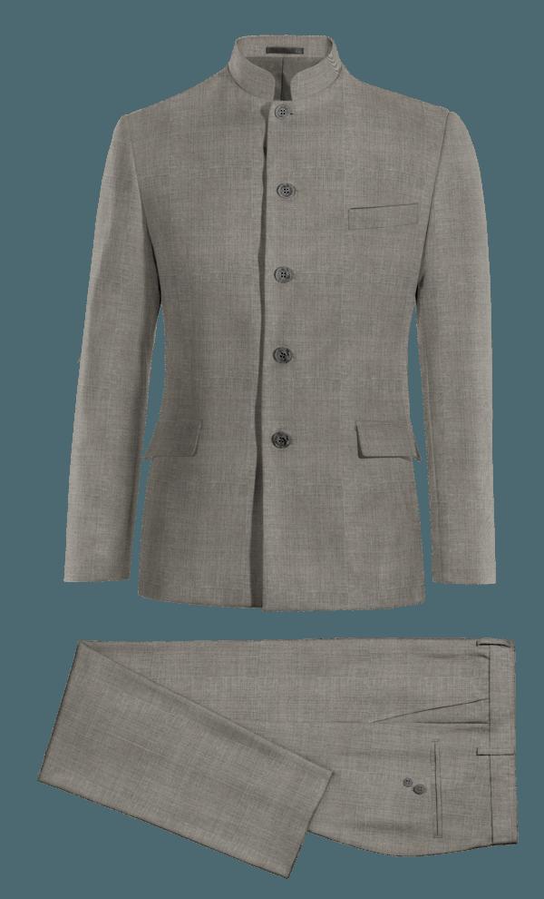 Grey Mao 100% Wool Suit