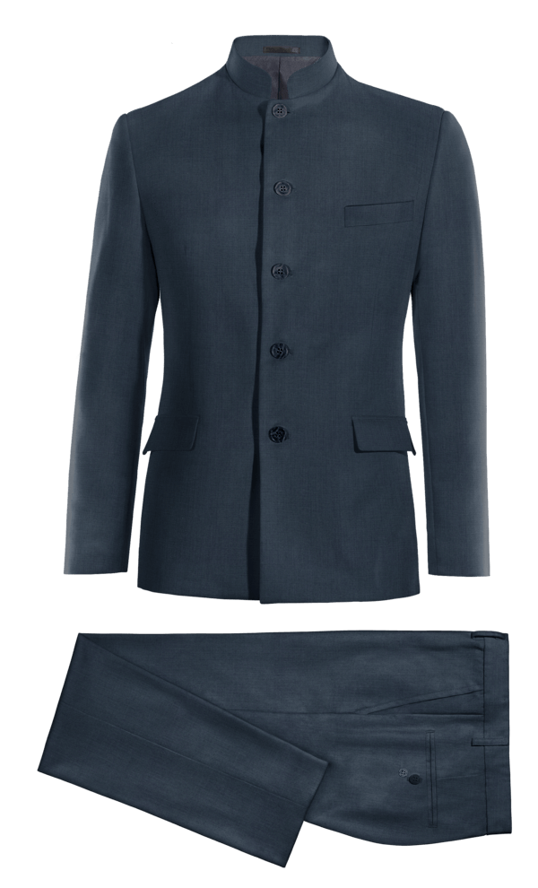 Blue Mao 100% Wool Suit