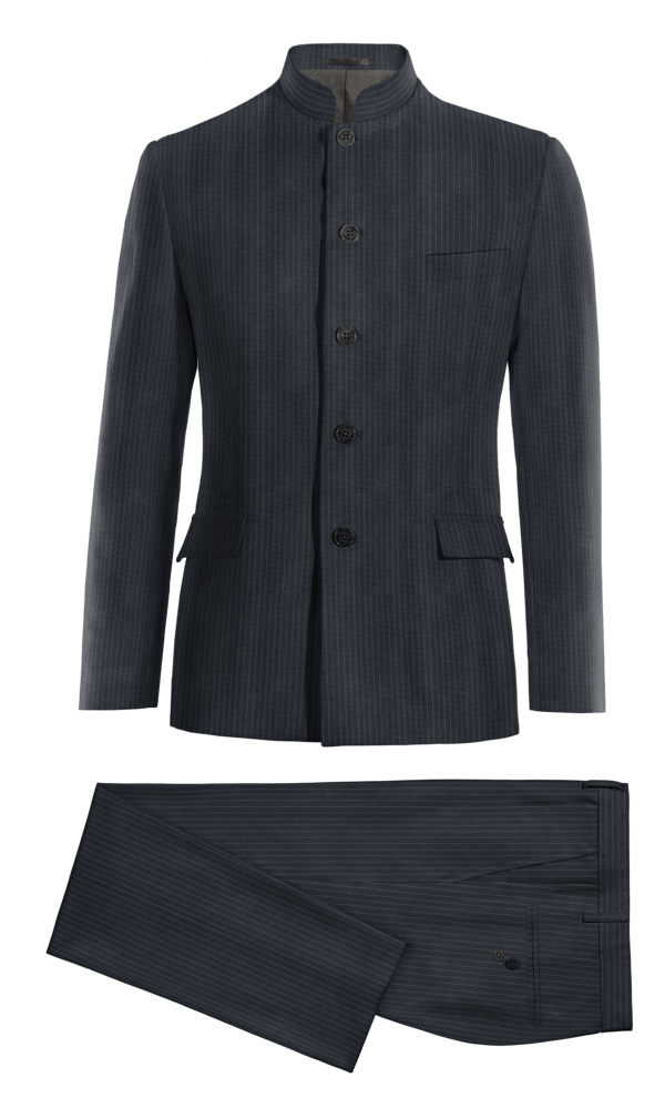 Blue Mao striped wool Suit