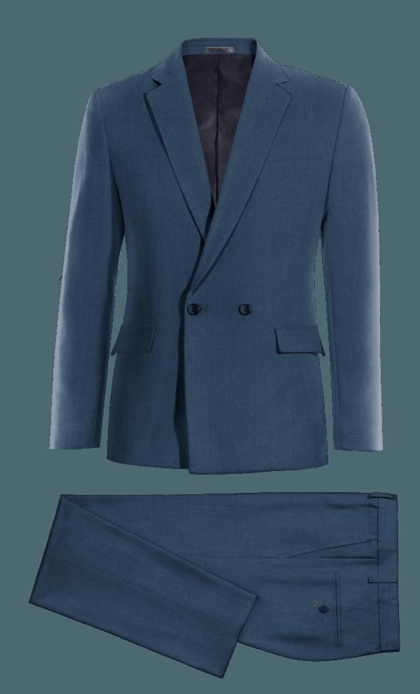синий шерстяной Костюм