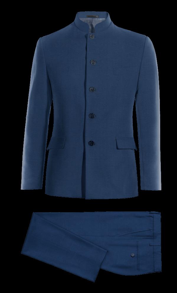Costume bleu Mao en Laine