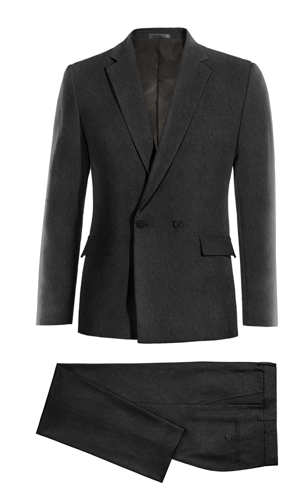 Black Double breasted linen Suit