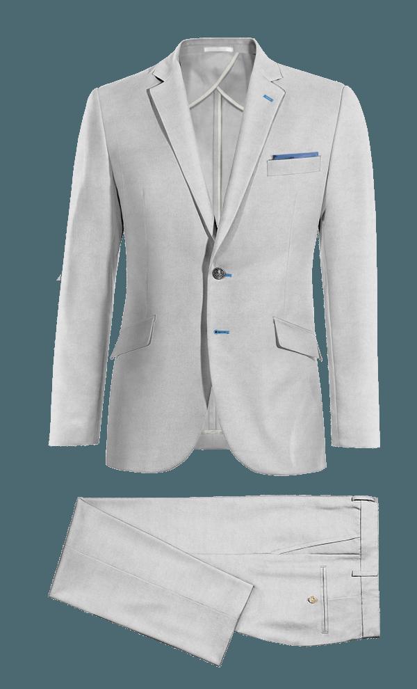 Costume gris en Lin