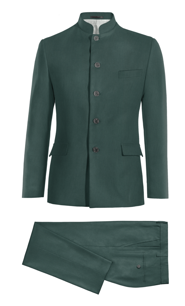 Green Mao polyester Suit