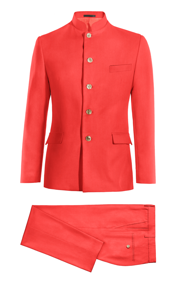 Costume rouge Mao en Polyester