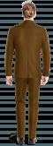Costume marron croisé en Velours côtelé-Vue Dos