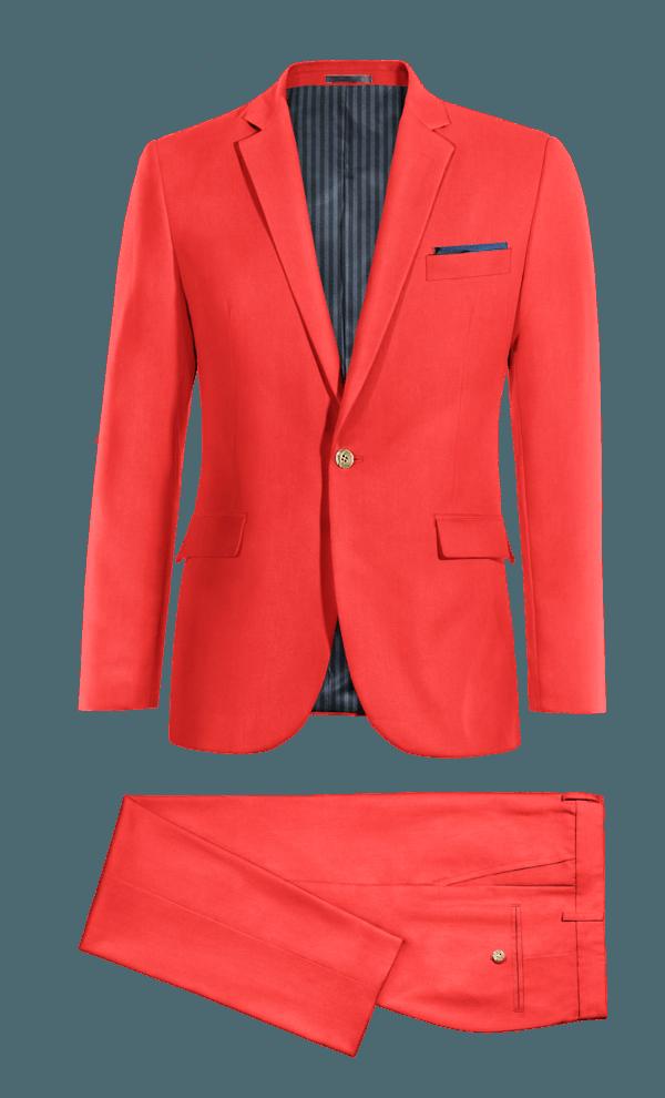 Costume rouge en Polyester
