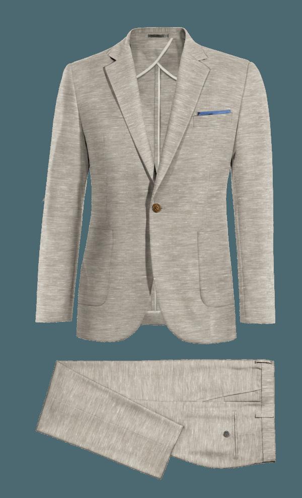 Costume gris en Polyester