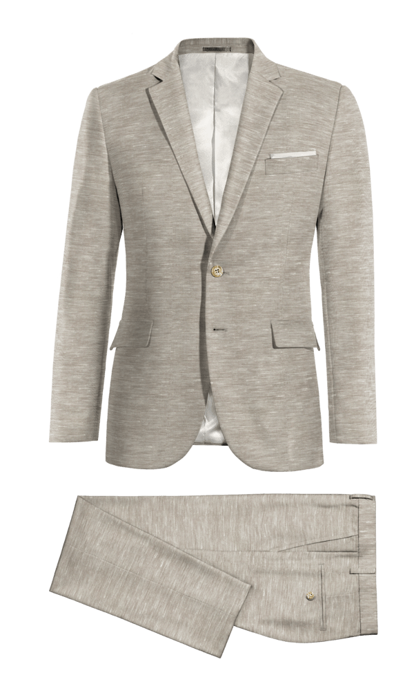 Grey polyester Suit