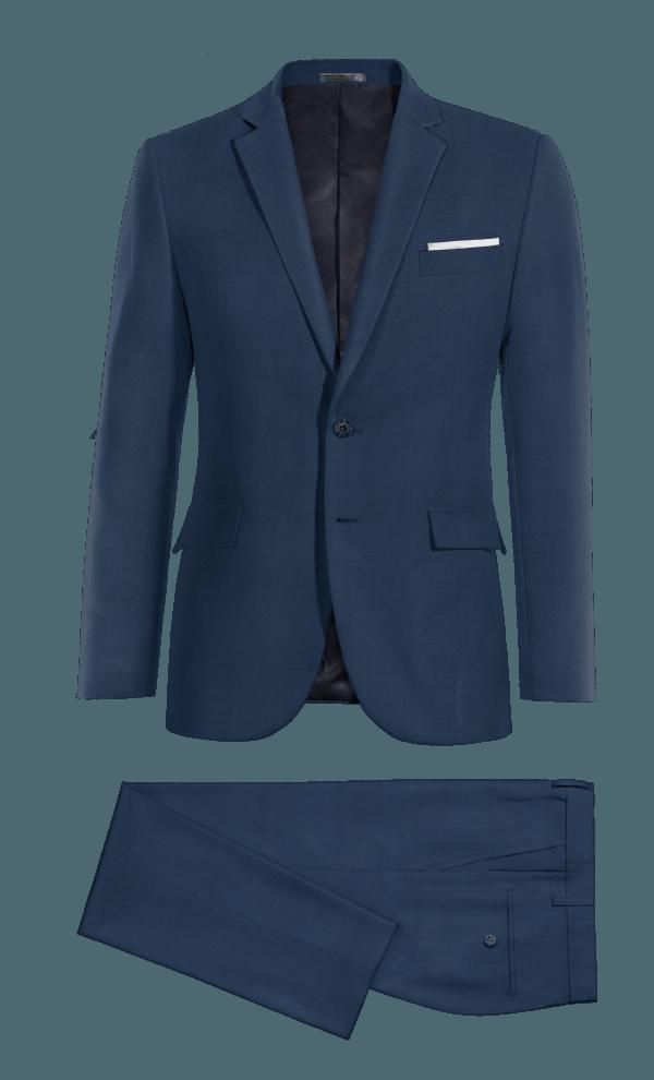 Costume bleu en Coton