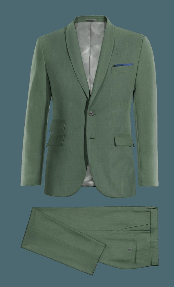 Costume vert en Laine