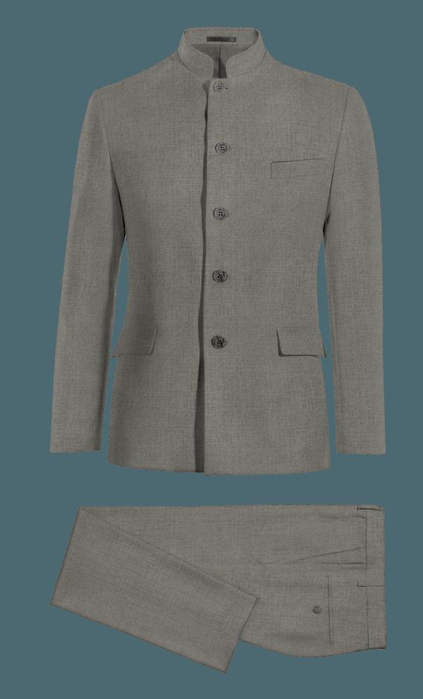Costume gris Mao en Laine
